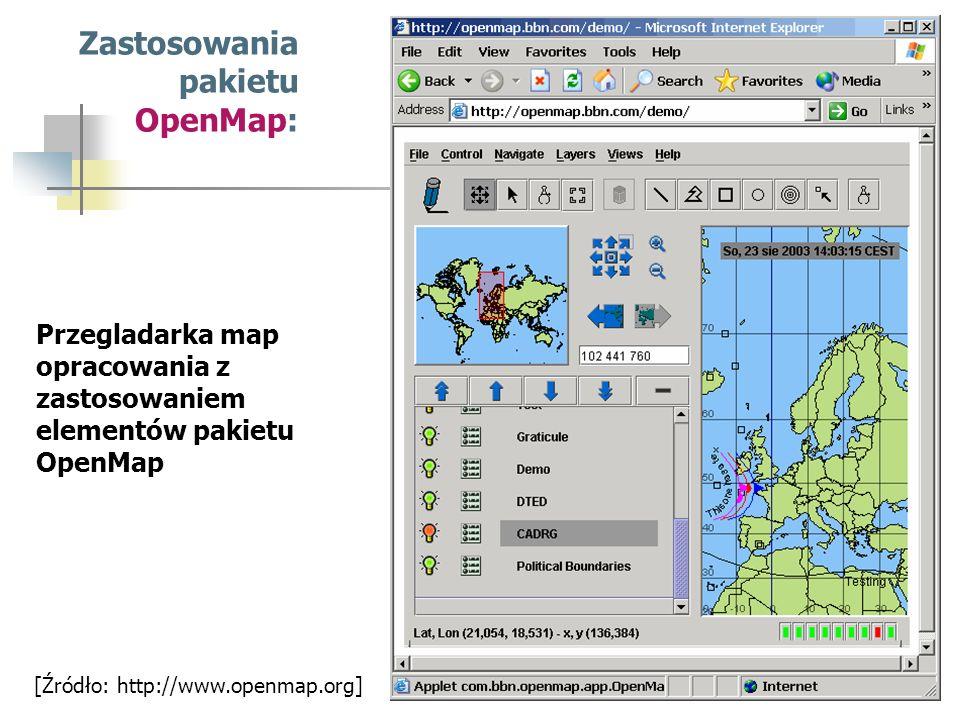Zastosowania pakietu OpenMap: Przegladarka map opracowania z