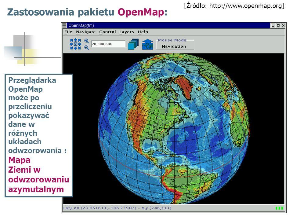 Zastosowania pakietu OpenMap: