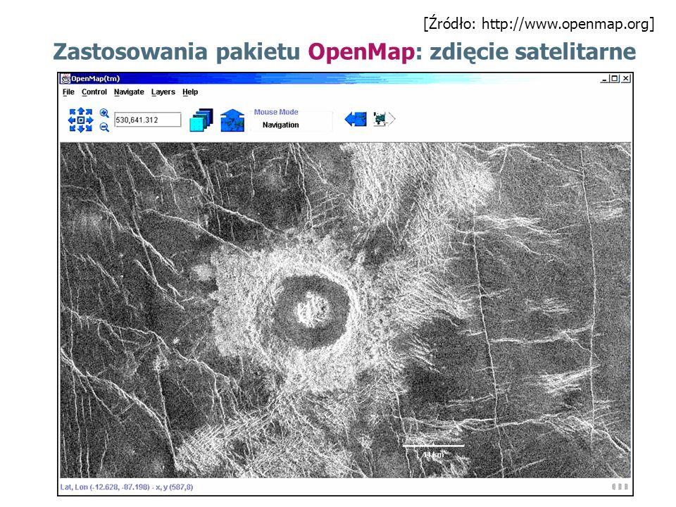 Zastosowania pakietu OpenMap: zdięcie satelitarne