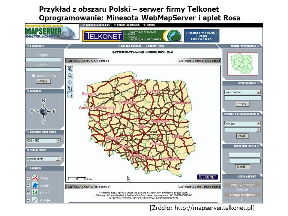 Przykład z obszaru Polski – serwer firmy Telkonet