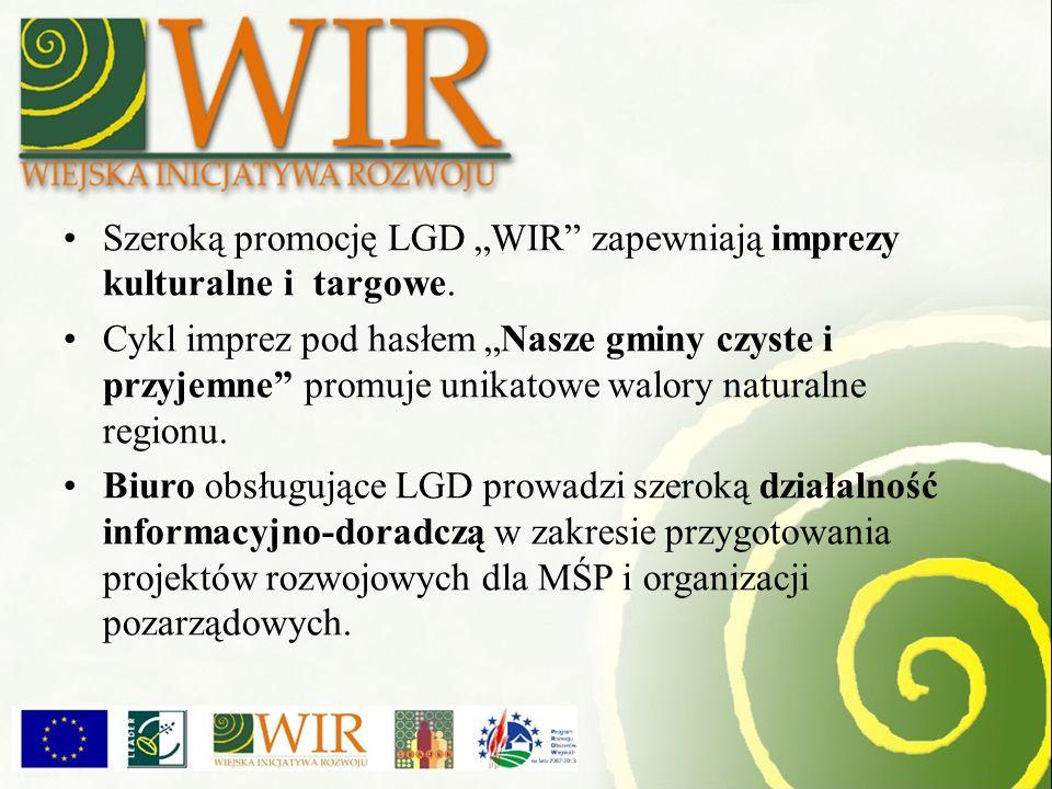 """Szeroką promocję LGD """"WIR zapewniają imprezy kulturalne i targowe."""