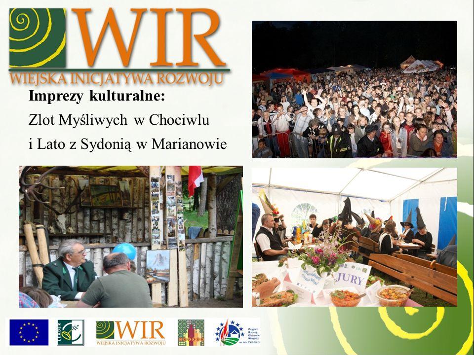 Imprezy kulturalne: Zlot Myśliwych w Chociwlu i Lato z Sydonią w Marianowie