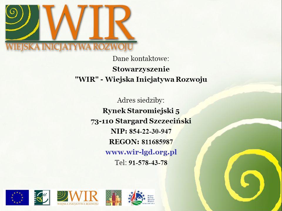 WIR - Wiejska Inicjatywa Rozwoju 73-110 Stargard Szczeciński