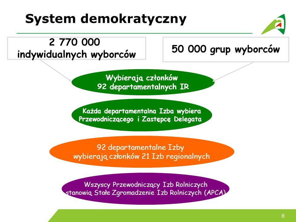 System demokratyczny 2 770 000 50 000 grup wyborców