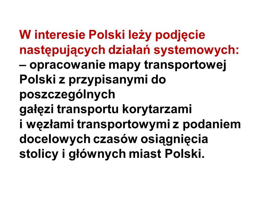 W interesie Polski leży podjęcie następujących działań systemowych: