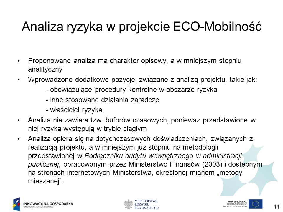 Analiza ryzyka w projekcie ECO-Mobilność