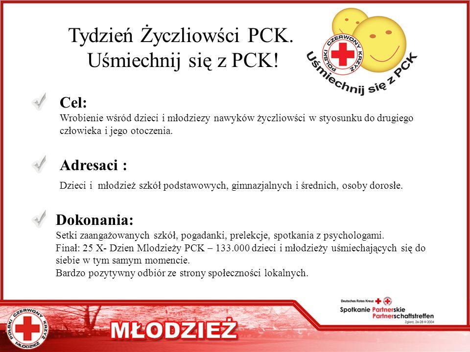 Tydzień Życzliowści PCK.