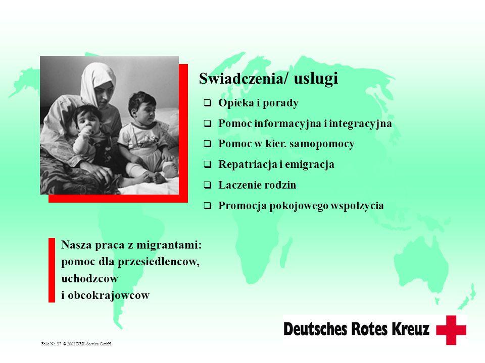 Swiadczenia/ uslugi Nasza praca z migrantami: