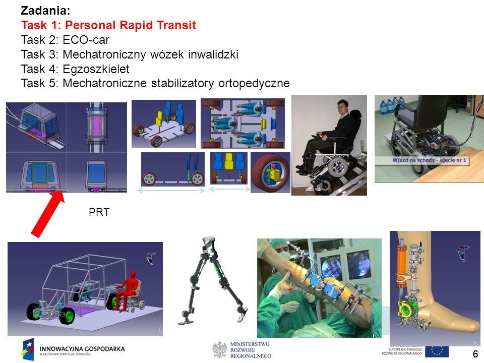 Task 1: Personal Rapid Transit Task 2: ECO-car