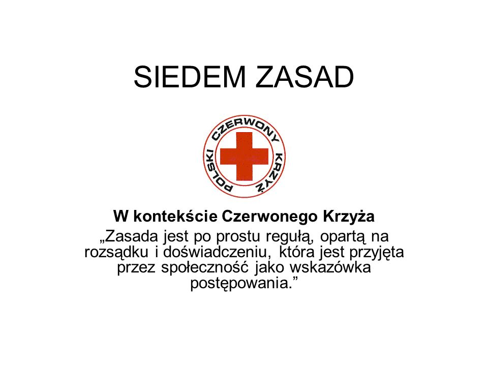 W kontekście Czerwonego Krzyża