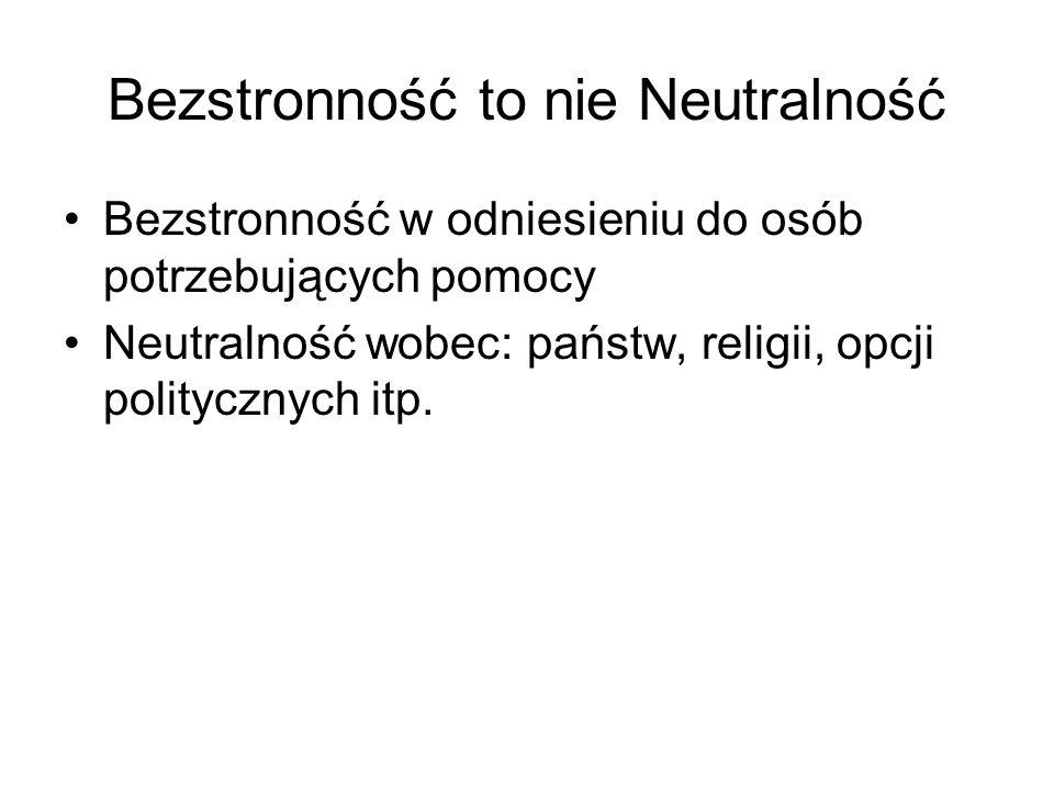 Bezstronność to nie Neutralność