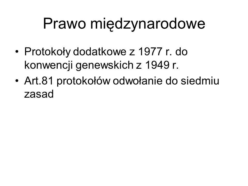 Prawo międzynarodowe Protokoły dodatkowe z 1977 r.
