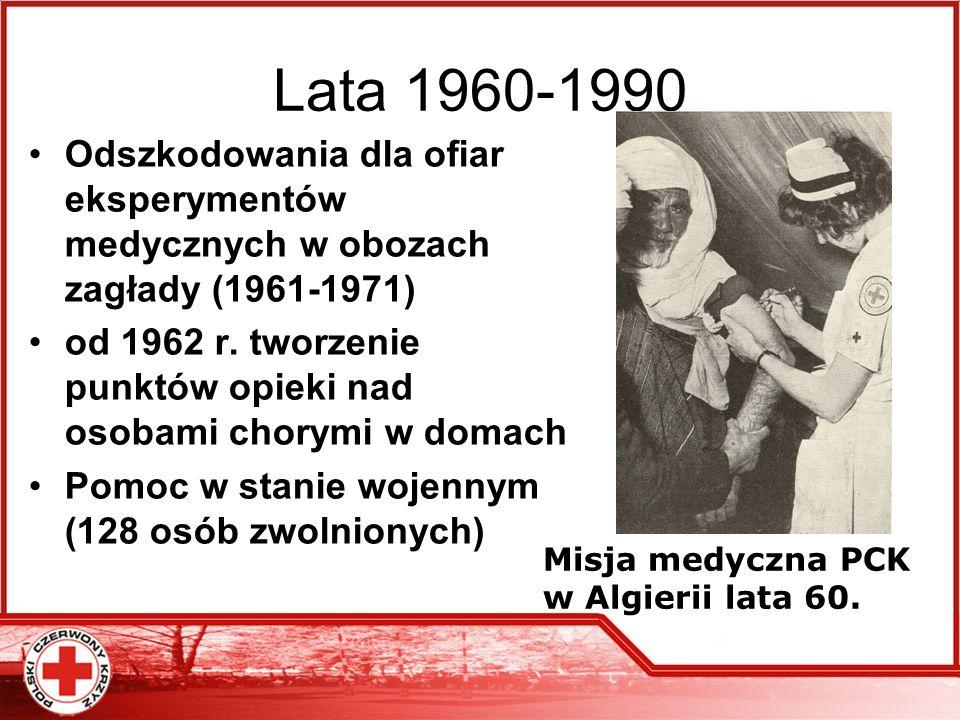 Lata 1960-1990 Odszkodowania dla ofiar eksperymentów medycznych w obozach zagłady (1961-1971)