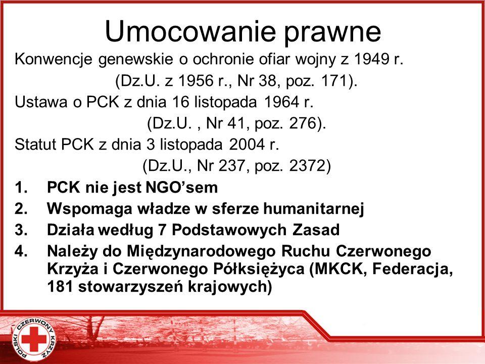 Umocowanie prawne Konwencje genewskie o ochronie ofiar wojny z 1949 r.