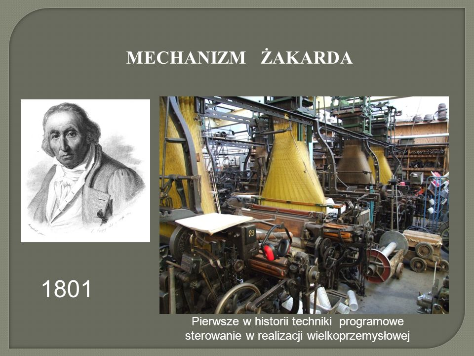 MECHANIZM ŻAKARDA 1801.
