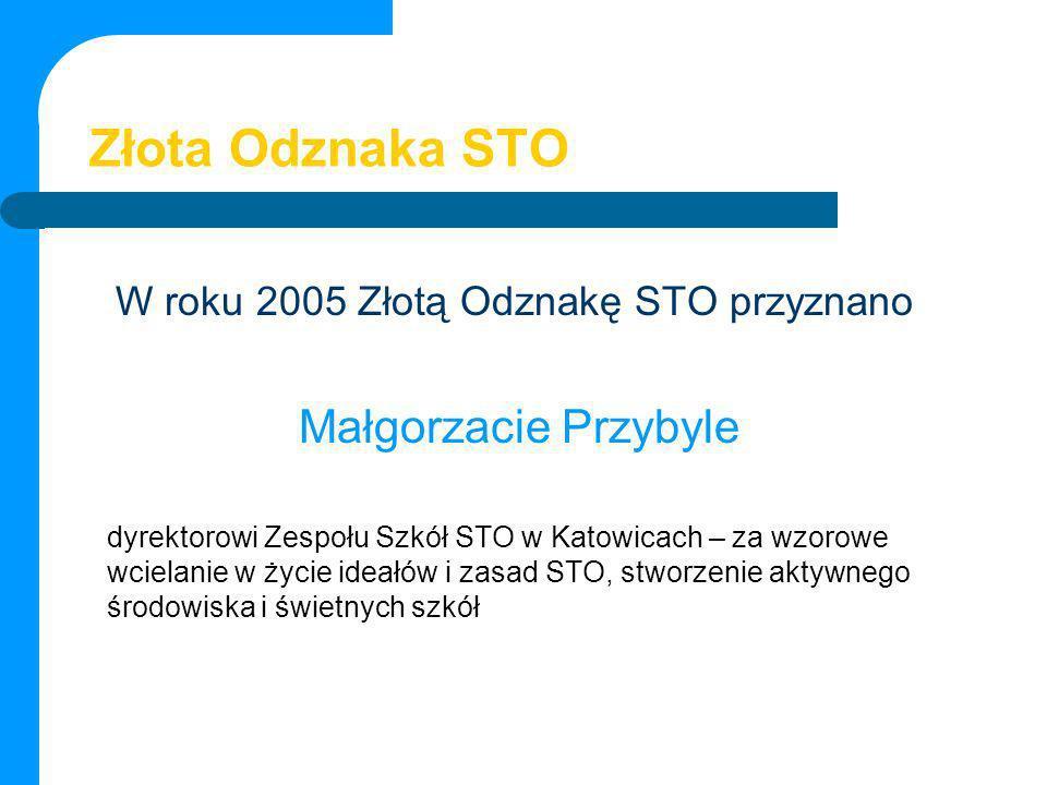 Złota Odznaka STO Małgorzacie Przybyle