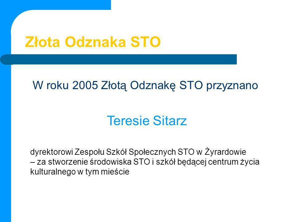 Złota Odznaka STO Teresie Sitarz