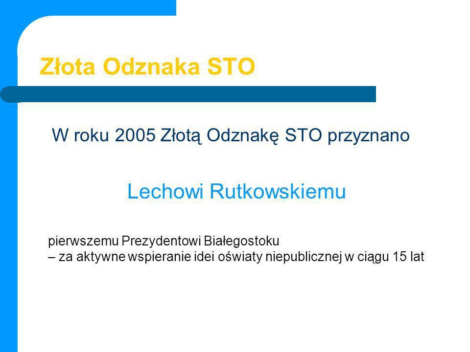 Złota Odznaka STO Lechowi Rutkowskiemu