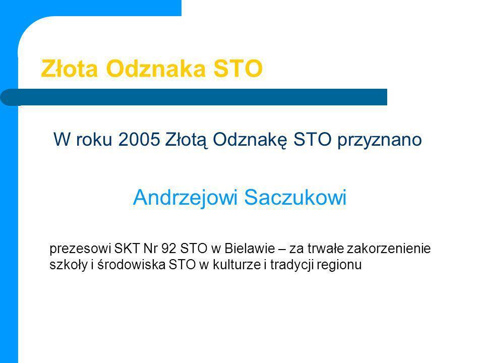 Złota Odznaka STO Andrzejowi Saczukowi