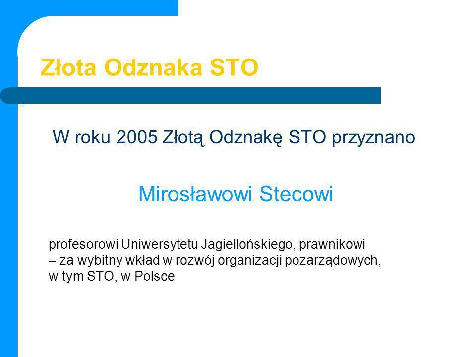 Złota Odznaka STO Mirosławowi Stecowi