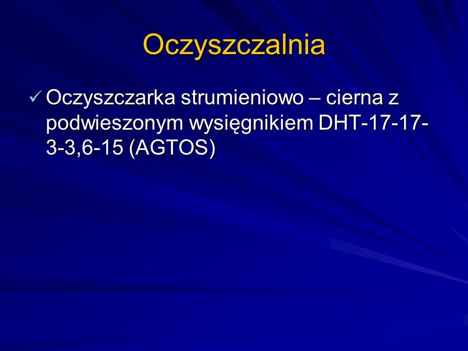 Oczyszczalnia Oczyszczarka strumieniowo – cierna z podwieszonym wysięgnikiem DHT-17-17-3-3,6-15 (AGTOS)