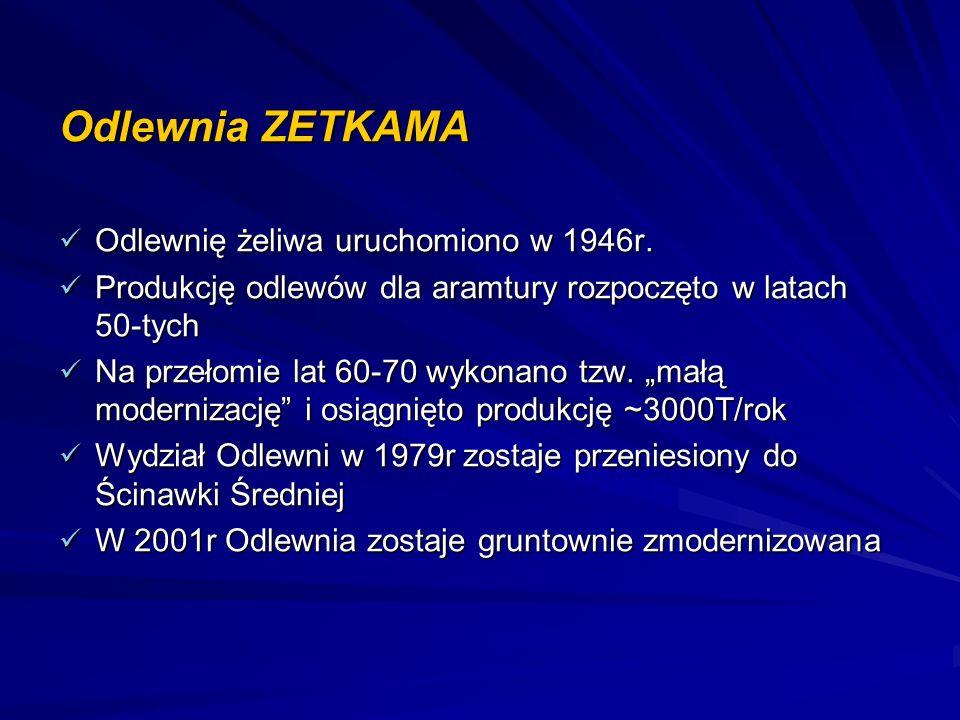 Odlewnia ZETKAMA Odlewnię żeliwa uruchomiono w 1946r.