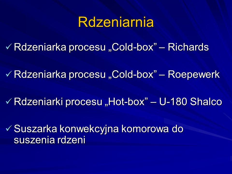 """Rdzeniarnia Rdzeniarka procesu """"Cold-box – Richards"""