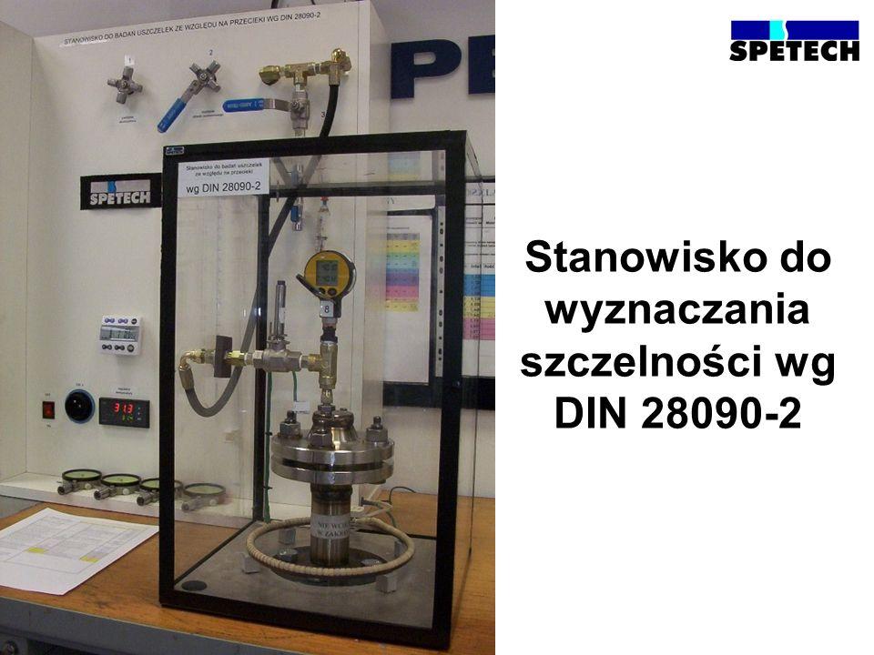 Stanowisko do wyznaczania szczelności wg DIN 28090-2