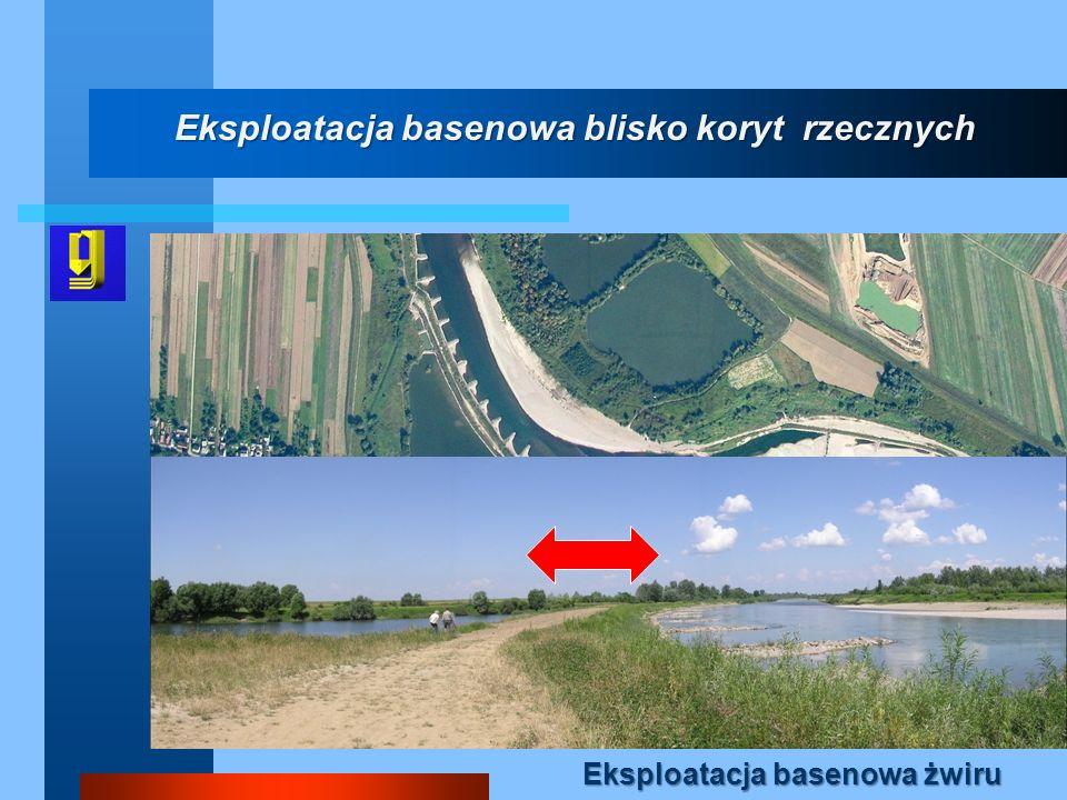 Eksploatacja basenowa blisko koryt rzecznych
