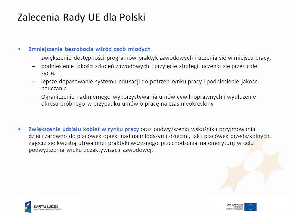 Zalecenia Rady UE dla Polski