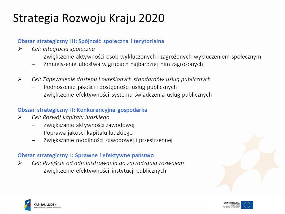 Strategia Rozwoju Kraju 2020