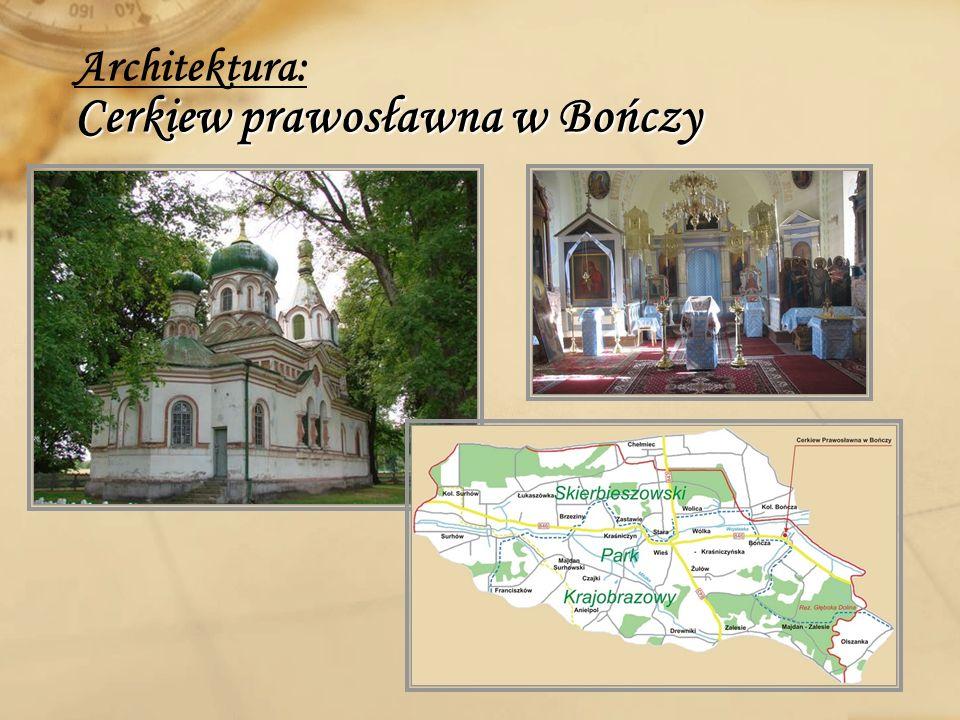 Architektura: Cerkiew prawosławna w Bończy