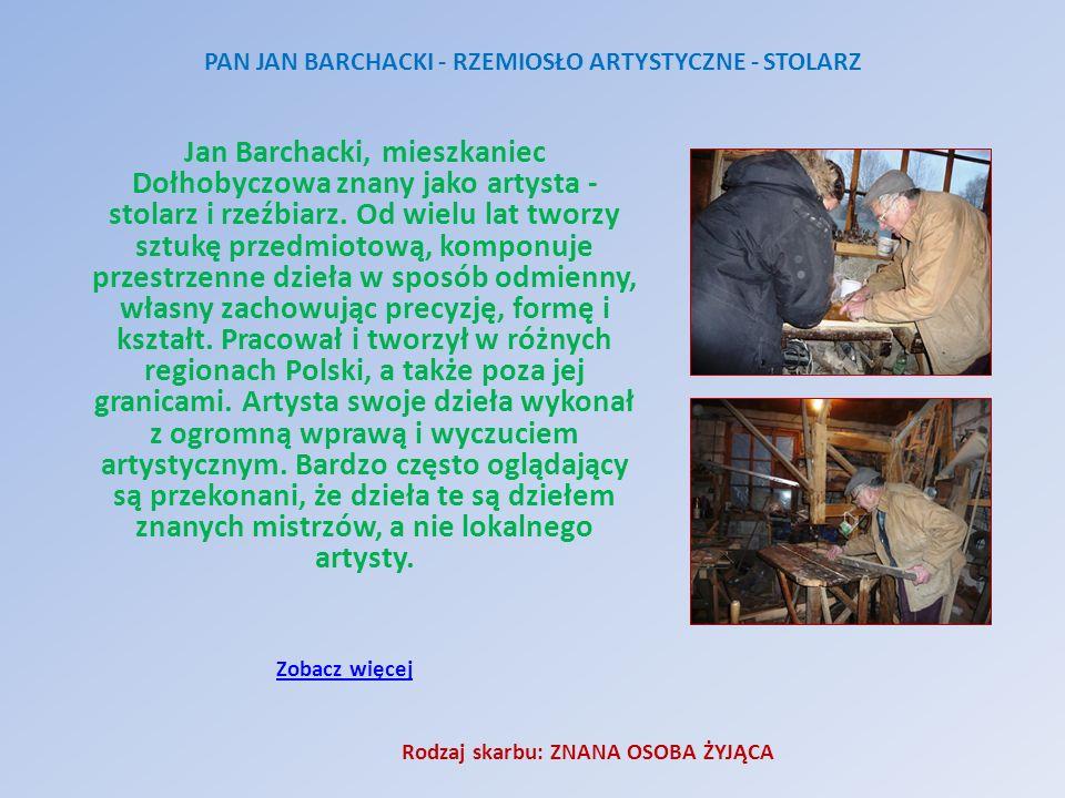 PAN JAN BARCHACKI - RZEMIOSŁO ARTYSTYCZNE - STOLARZ