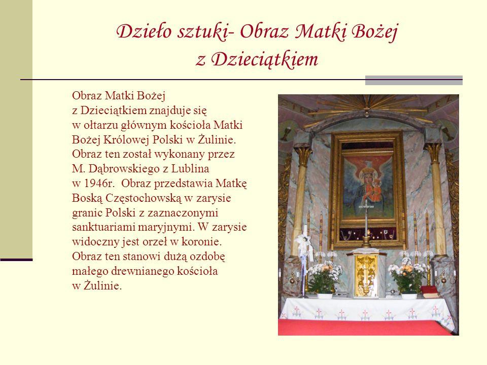 Dzieło sztuki- Obraz Matki Bożej z Dzieciątkiem