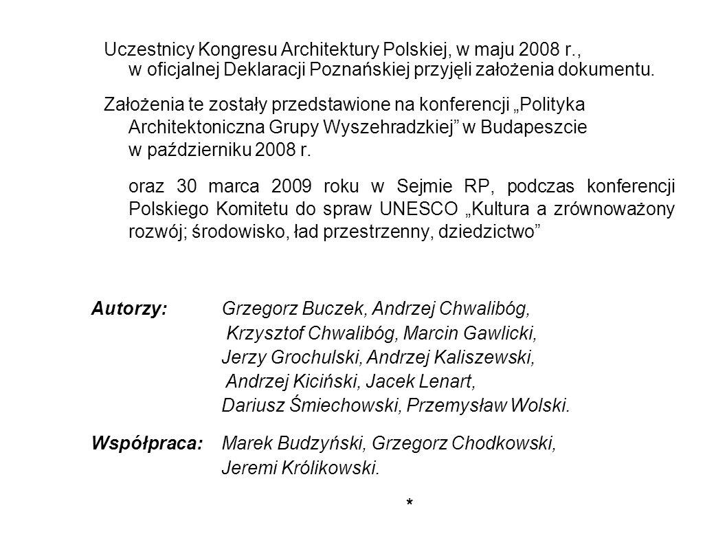 Uczestnicy Kongresu Architektury Polskiej, w maju 2008 r