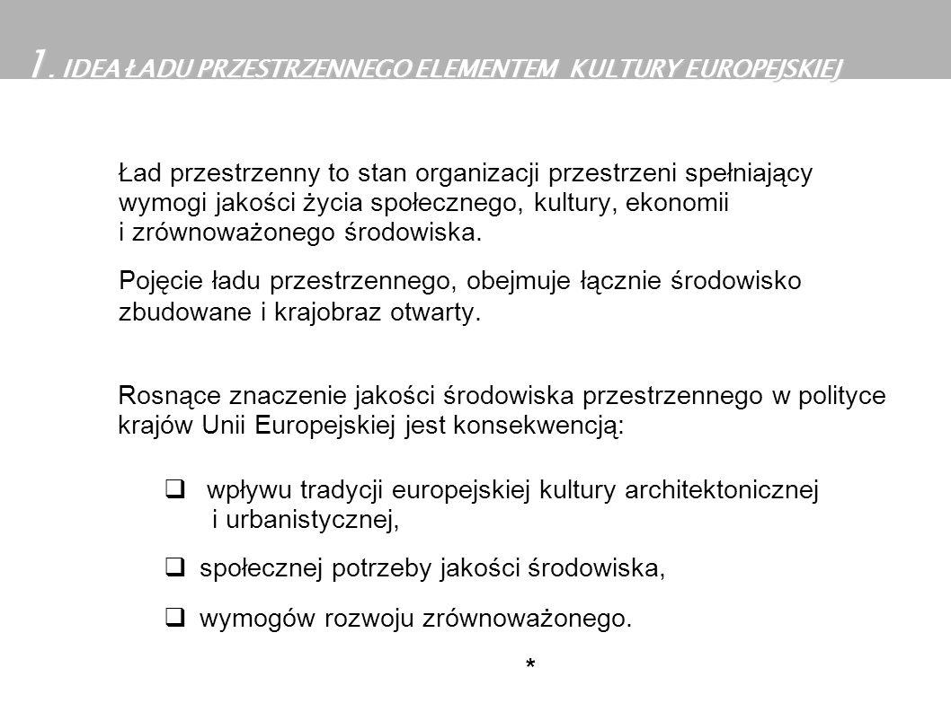 1. IDEA ŁADU PRZESTRZENNEGO ELEMENTEM KULTURY EUROPEJSKIEJ