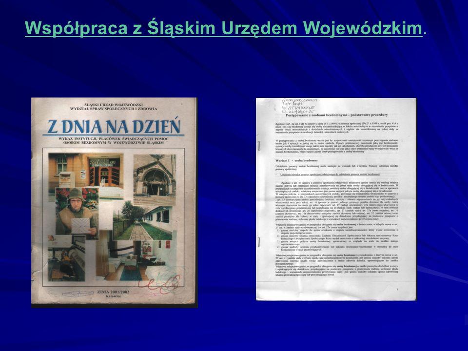 Współpraca z Śląskim Urzędem Wojewódzkim.