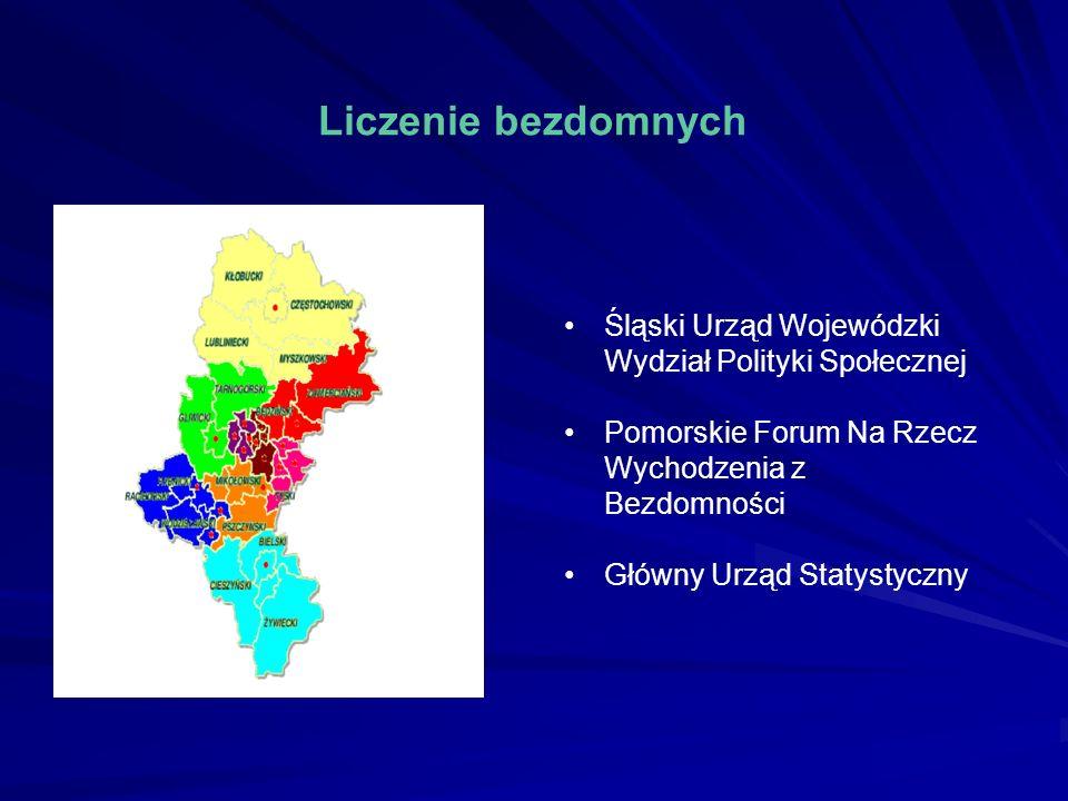 Liczenie bezdomnych Śląski Urząd Wojewódzki Wydział Polityki Społecznej. Pomorskie Forum Na Rzecz Wychodzenia z Bezdomności.