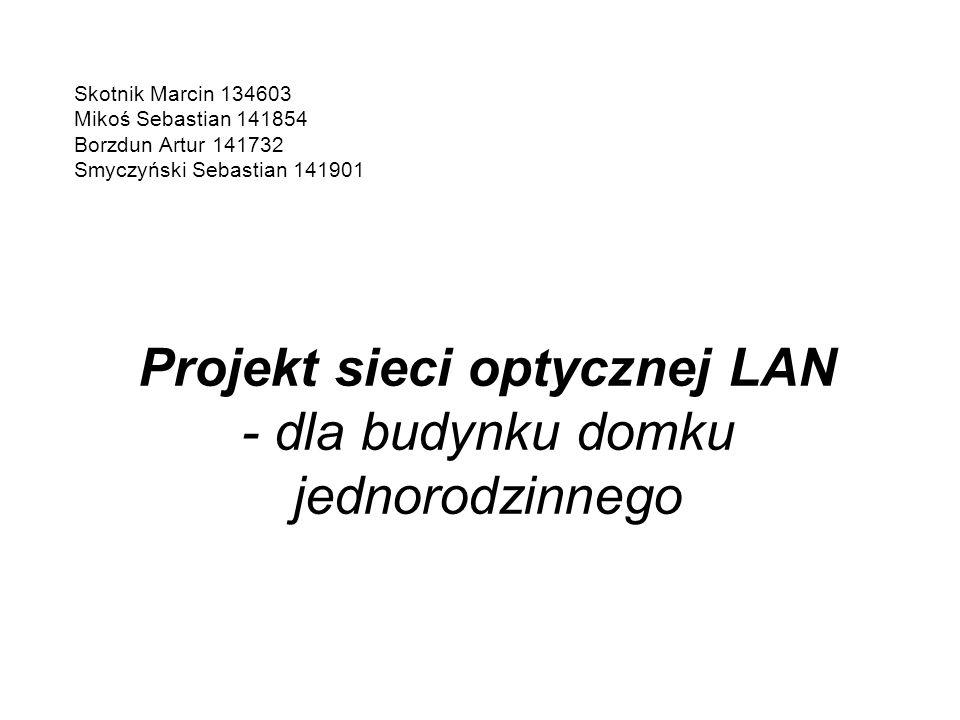 Projekt sieci optycznej LAN - dla budynku domku jednorodzinnego