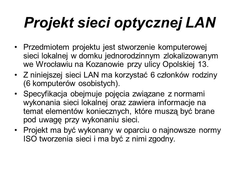 Projekt sieci optycznej LAN
