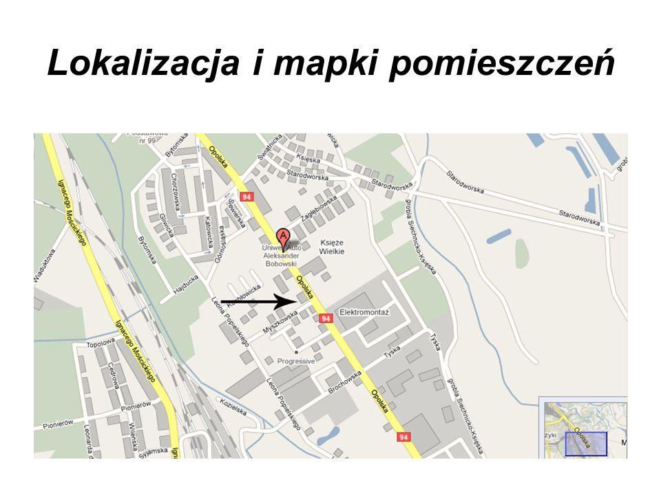 Lokalizacja i mapki pomieszczeń