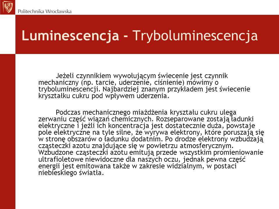 Luminescencja - Tryboluminescencja