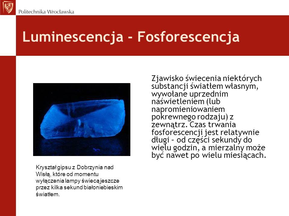 Luminescencja - Fosforescencja