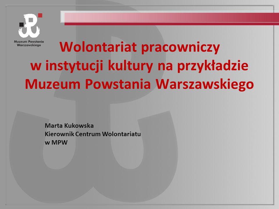 Wolontariat pracowniczy w instytucji kultury na przykładzie Muzeum Powstania Warszawskiego