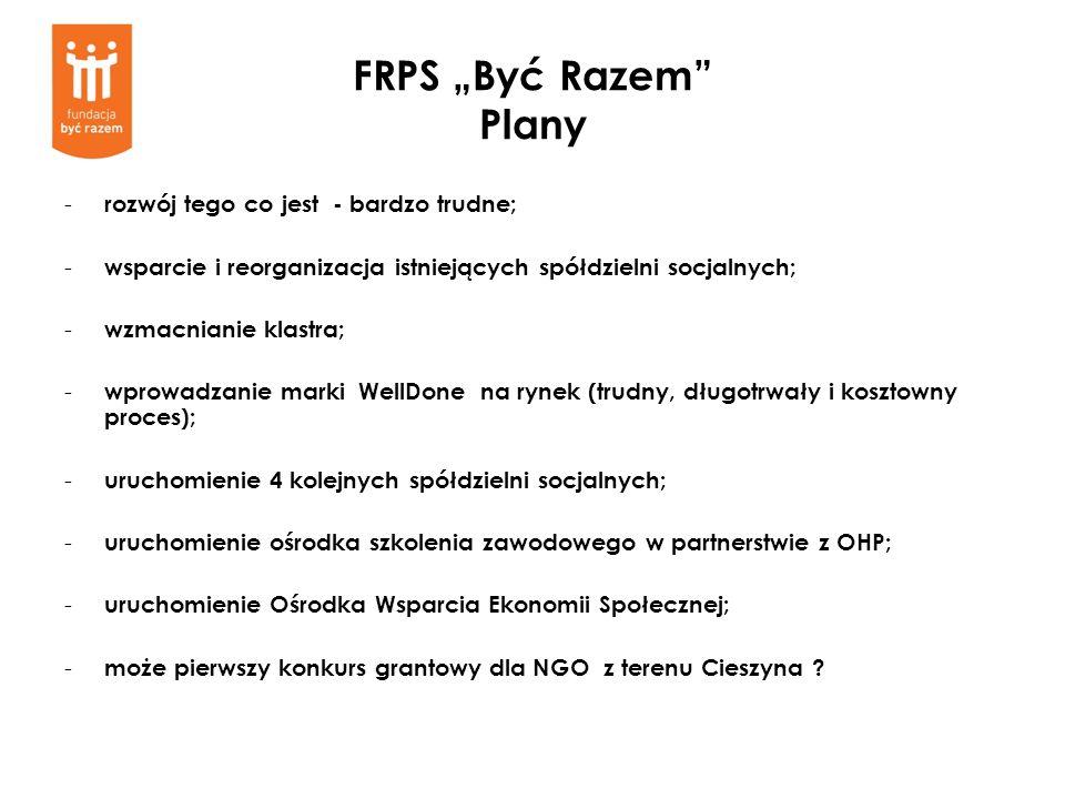 """FRPS """"Być Razem Plany rozwój tego co jest - bardzo trudne;"""