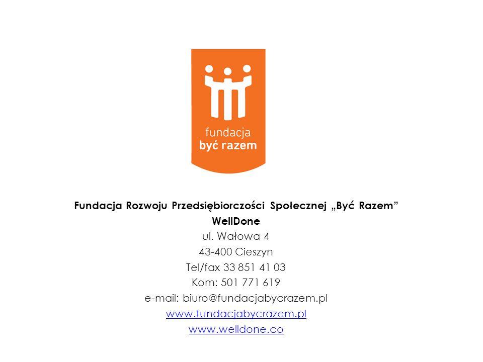 """Fundacja Rozwoju Przedsiębiorczości Społecznej """"Być Razem"""