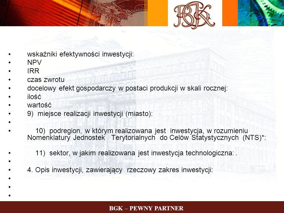 wskaźniki efektywności inwestycji: NPV IRR czas zwrotu