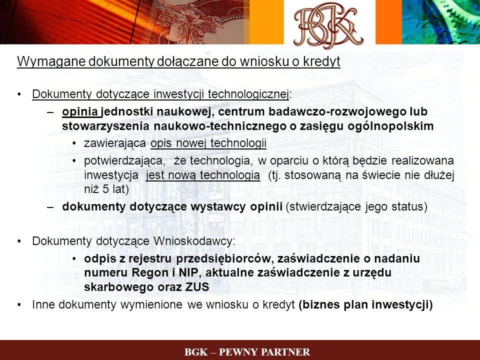 Wymagane dokumenty dołączane do wniosku o kredyt
