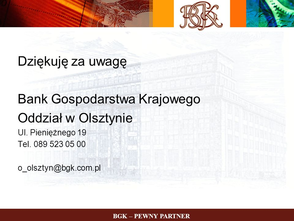 Bank Gospodarstwa Krajowego Oddział w Olsztynie
