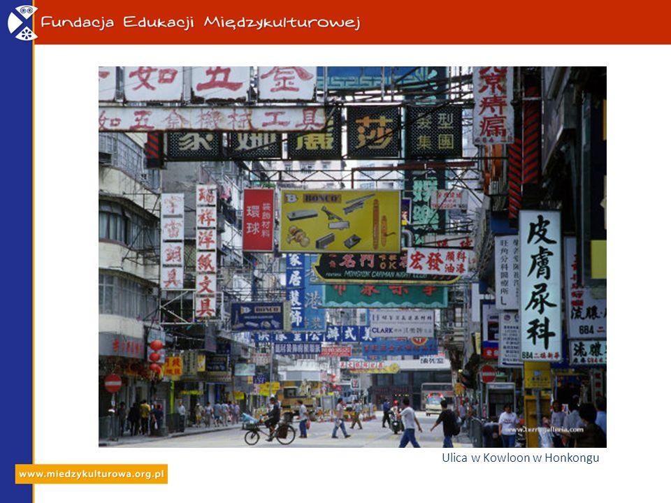 Ulica w Kowloon w Honkongu